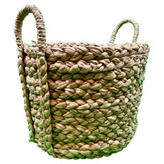 Hand Woven Two Handled Seagrass Basket