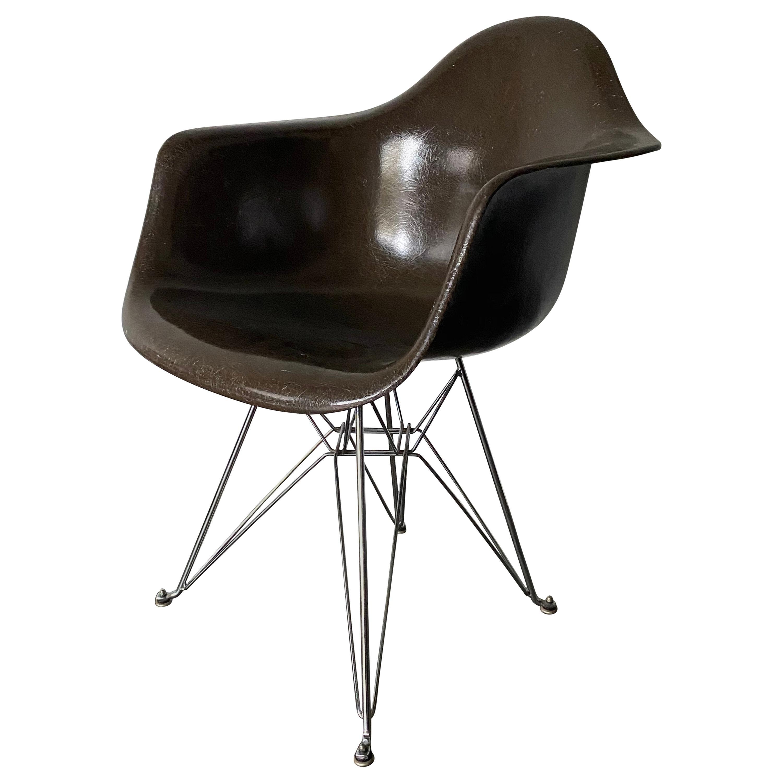 Seal Brown Herman Miller Eames DAR Armchair