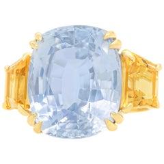 Seaman Schepps 18 Carat Sapphire Ring