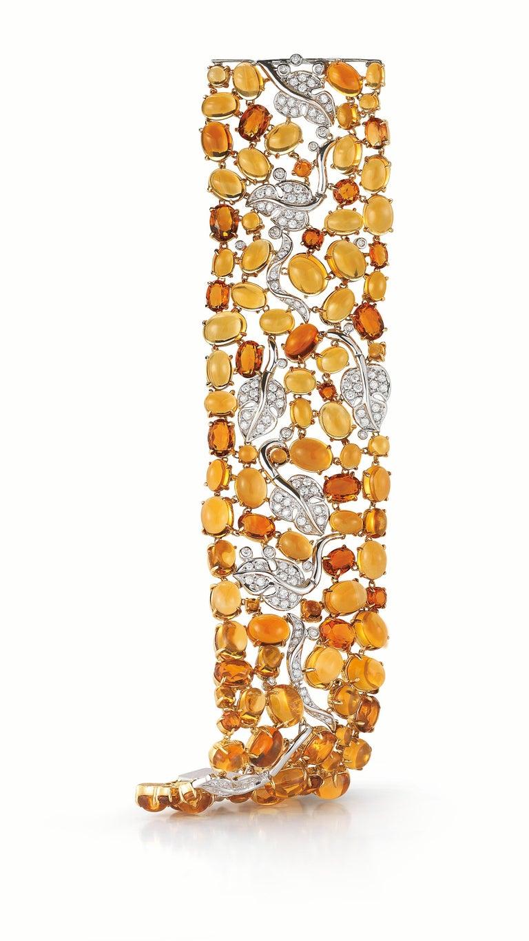 Seaman Schepps 18 Karat Gelb- und Weißgold Citrin und Diamantarmband 2