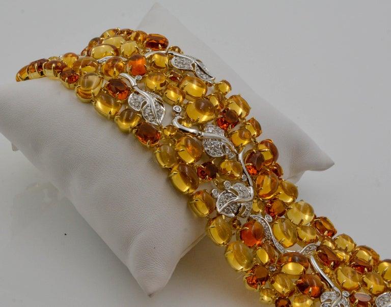Seaman Schepps 18 Karat Gelb- und Weißgold Citrin und Diamantarmband 3
