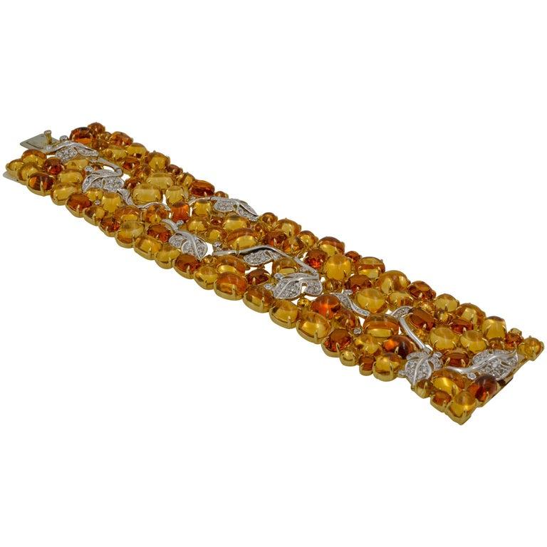 Seaman Schepps 18 Karat Gelb- und Weißgold Citrin und Diamantarmband 1