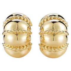 Seaman Schepps 18 Karat Yellow Gold Shrimp Earrings