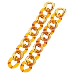 Seaman Schepps Amber Gold Link Bracelet Set