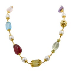 Seaman Schepps Baroque Multi Gemstone Necklace