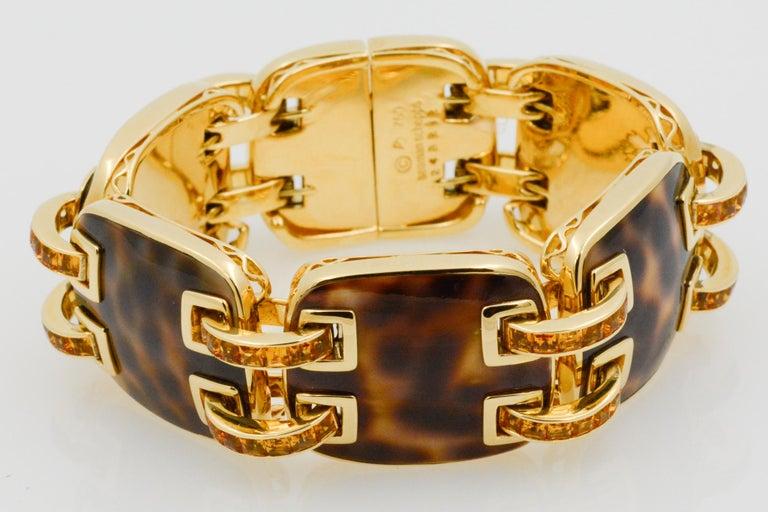 Seaman Schepps Cowrie Ponte Citrine 18 Karat Yellow Gold Bracelet For Sale 1