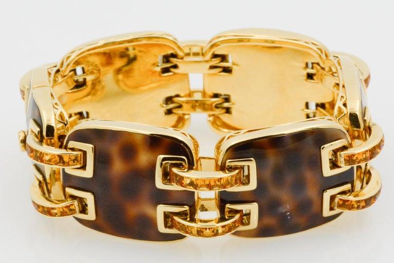 Seaman Schepps Cowrie Ponte Citrine 18 Karat Yellow Gold Bracelet For Sale 2
