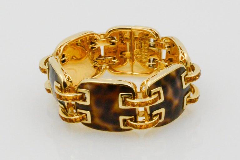 Seaman Schepps Cowrie Ponte Citrine 18 Karat Yellow Gold Bracelet For Sale 3