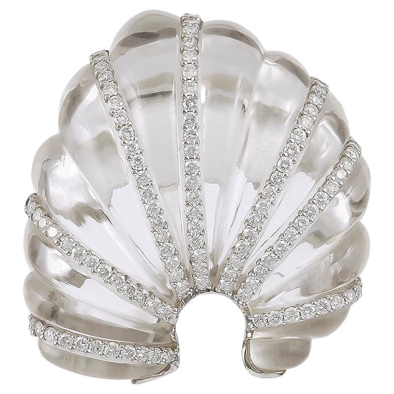 Seaman Schepps Diamond, Crystal Brooch