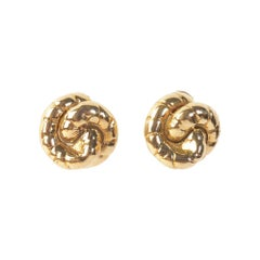 Seaman Schepps Gold Swirl Earrings