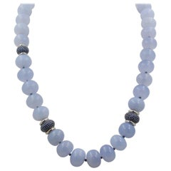 Seaman Schepps Juno Blue Chalcedony and Sapphire Necklace