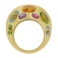 Seaman Schepps Multi-Color Gemstone Gold Ring