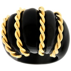 Seaman Schepps Onyx and Gold Ring