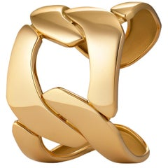 Seaman Schepps Oversized Gold Three-Link Cuff