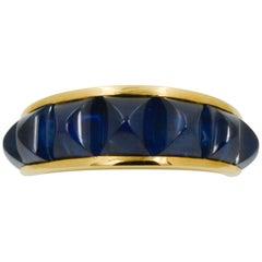 Seaman Schepps Portofino Blue Sapphire 18 Karat Yellow Gold Ring