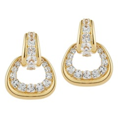 Seaman Schepps White Topaz 18 Karat Yellow Gold Madison Earrings
