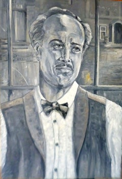 A Man For All Seasons ( Actor Terry Frost ), Painting, Oil on Wood Panel
