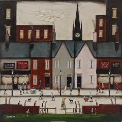 Sean Durkin, Bustling High Street IV, Contemporary Painting, Affordable Art