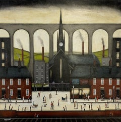Sean Durkin, Salford Viaduct Stockport, Lowry Inspired Art, Affordable Art