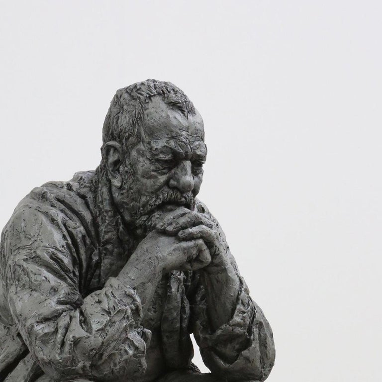 Seated Man - Sculpture by Sean Henry
