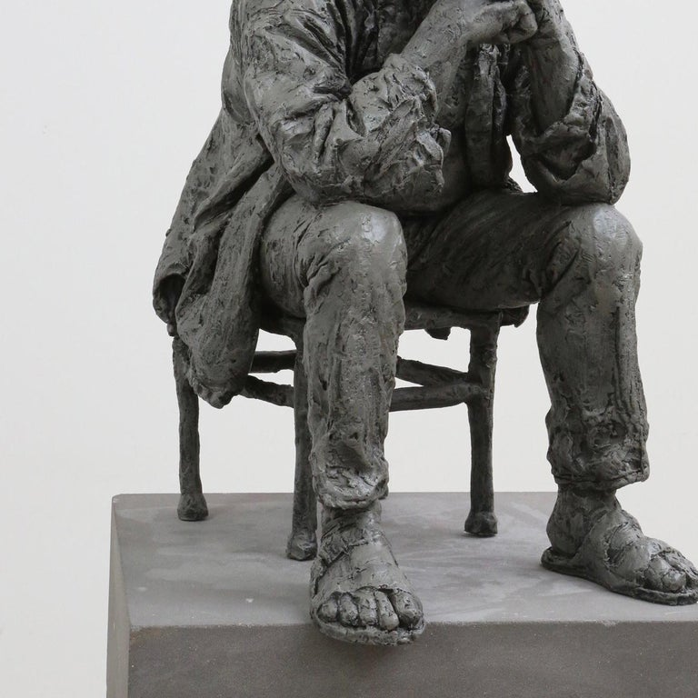 Seated Man - Contemporary Sculpture by Sean Henry