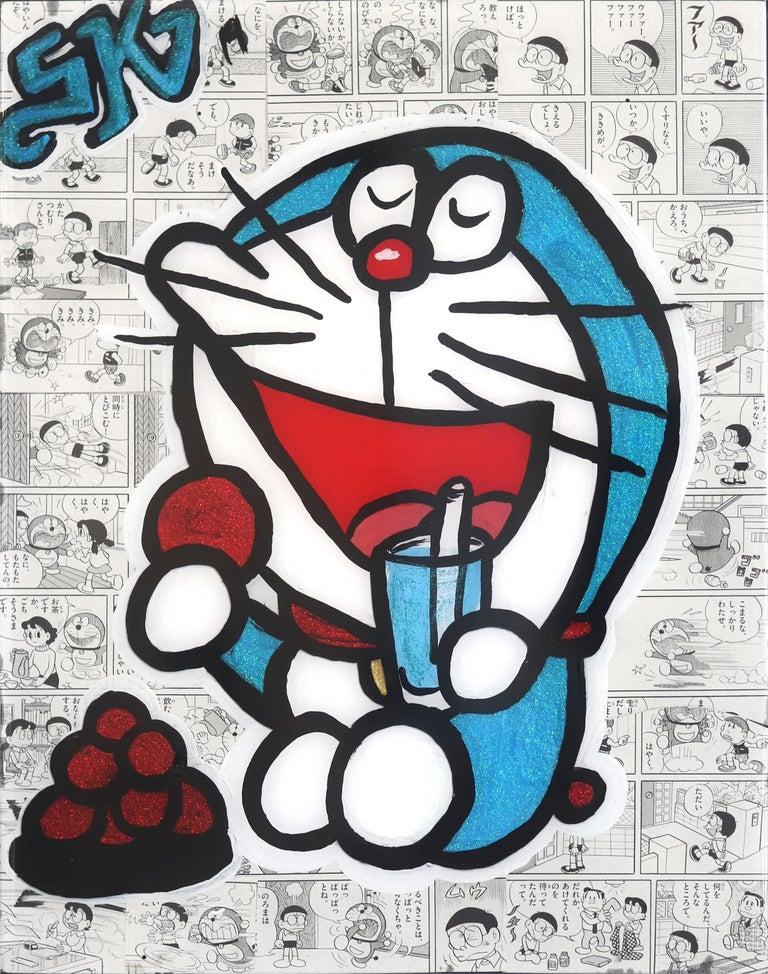 Doremon #6 - Mixed Media Art by Sean Keith