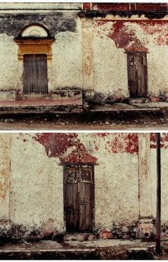 A Pair of origin Photographs Sean Scully Pueblo Museum COA Rare Important Mexico