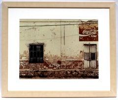 An Original Photograph Sean Scully Pueblo COA Rare Important Mexico coca cola