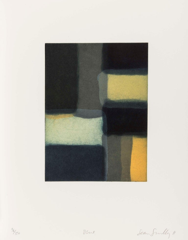 SEAN SCULLY Blue, 2011 Etching, aquatint and spitbite, on BFK Rives paper Signed and numbered from the edition of 150 Printed by Burnet Editions, New York Published by Stoney Road Press, Dublin, Ireland  Sheet: 38.1 x 29.8 cm (15.0 x 11.8 in)