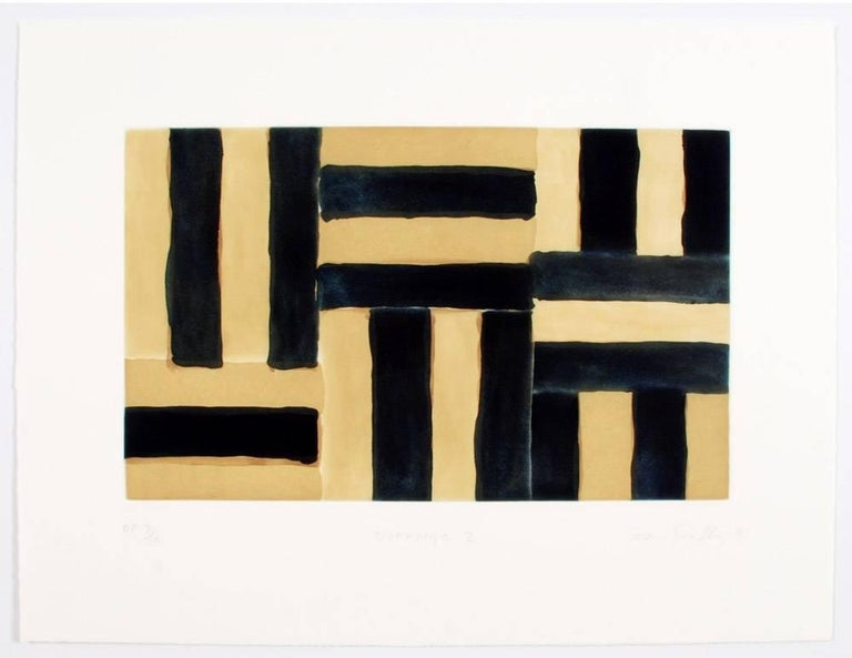 Sean Scully (Irish, b. 1945) Durango II, 1991 etching, aquatint, sugarlift, and spitbite on paper Paper Size:  17 1/2 x 23 inches  (44.5 x 58.4 cm) Image Size:  10 1/4 x 17 inches  (26 x 43.2 cm) Edition of 25