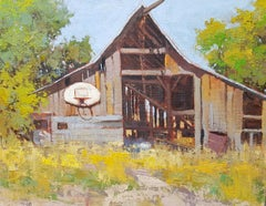 Still Standing (old barn, green, brown, blue)