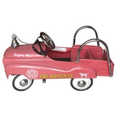 Search and Rescue Vintage Pedal Toy Fire Engine