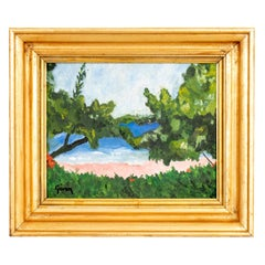 Seascape Painting of Tropical Beach Scene