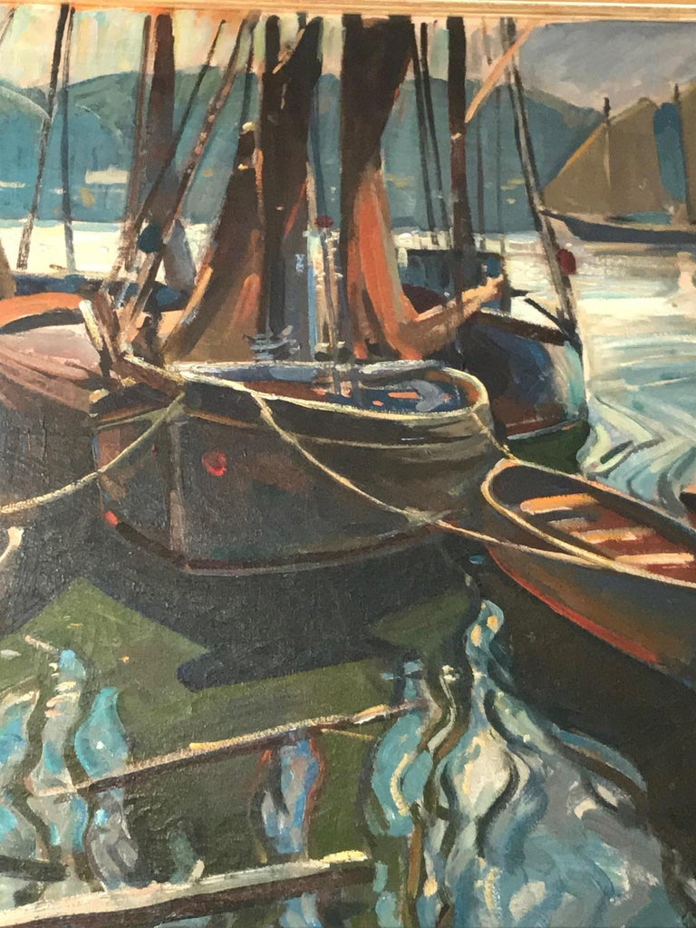 20th Century Seascape Painting Oil on Canvas by William Lester Stevens American Artist Sea LA For Sale