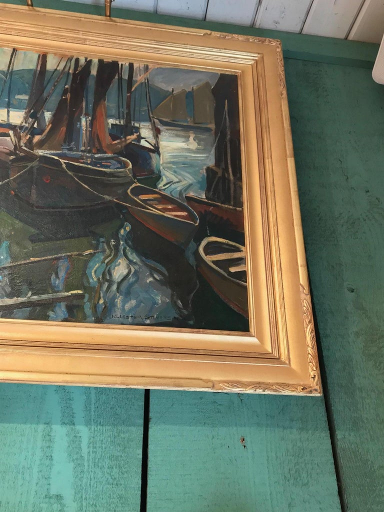 Seascape Painting Oil on Canvas by William Lester Stevens American Artist Sea LA For Sale 1