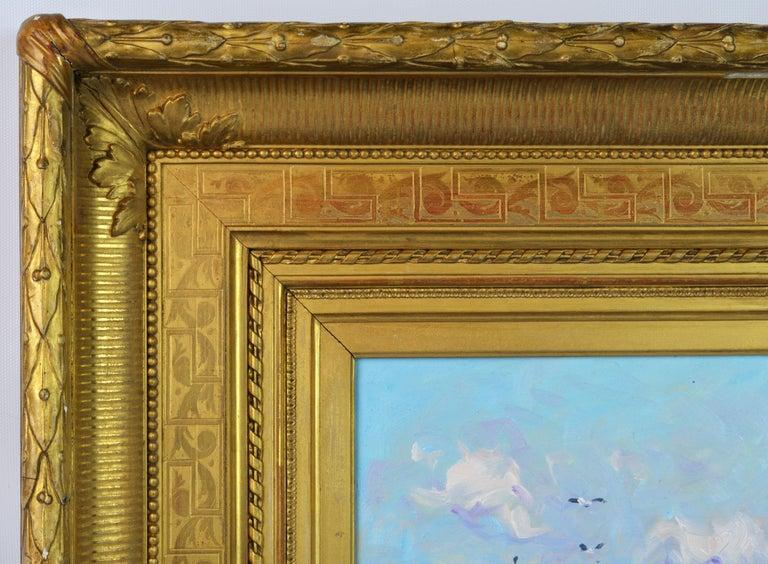 Gilt 'Summer Regatta' by Niek van der Plas, Well Listed Dutch Impressionist For Sale