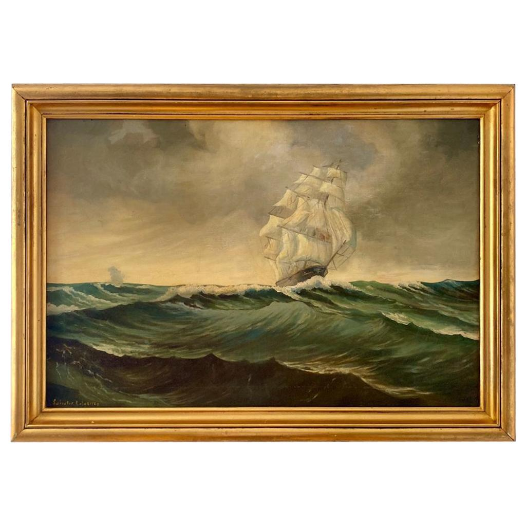 Seascape with Square Rigger on the High Seas, by Salvatore Colacicco