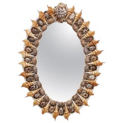 Seashell Oval Mirror