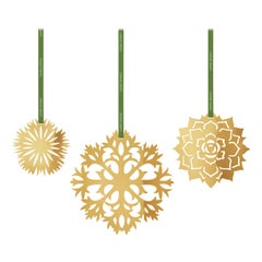Seasonal 3 Pcs Ice Flower Large Ornament Set