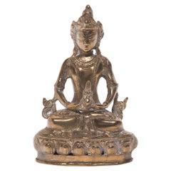 Seated Amitayus Buddha Figure, c. 1900
