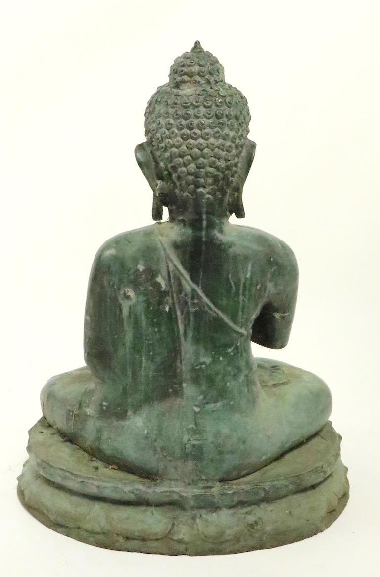 Seated Bronze Tibetan Buddha For Sale 6