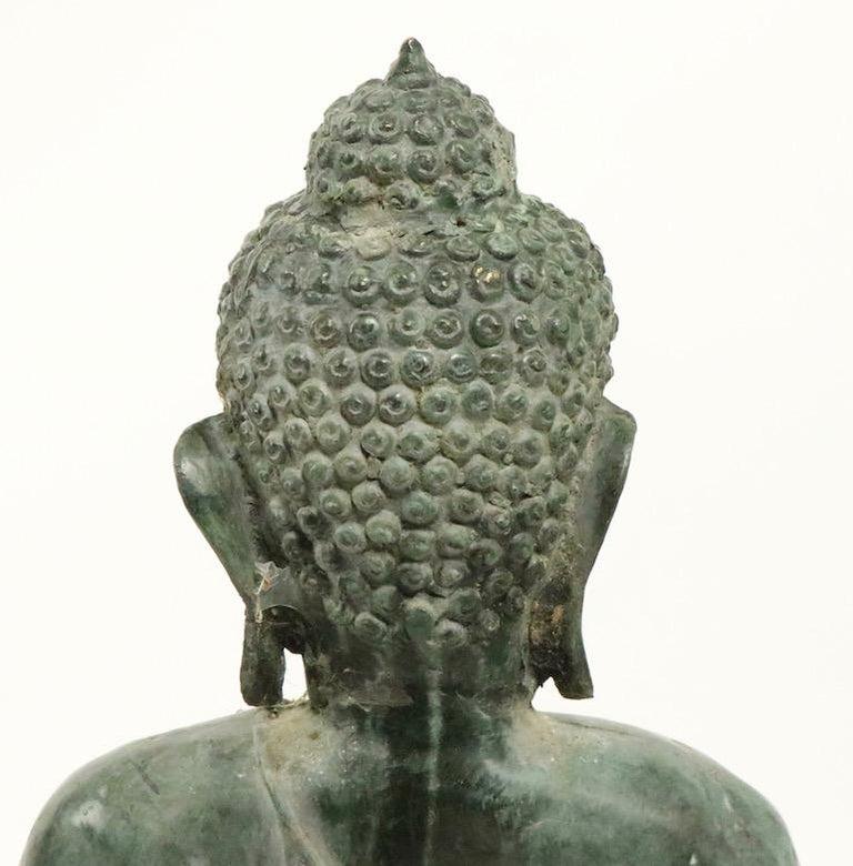 Seated Bronze Tibetan Buddha For Sale 7