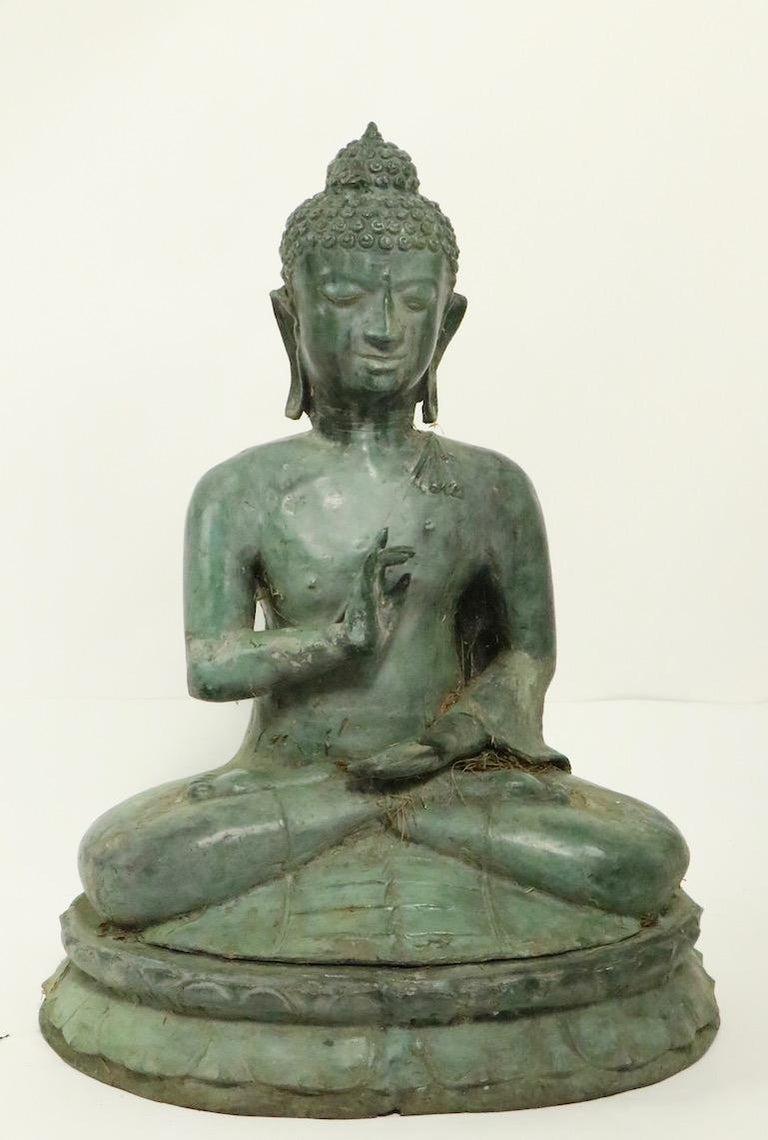 Unknown Seated Bronze Tibetan Buddha For Sale