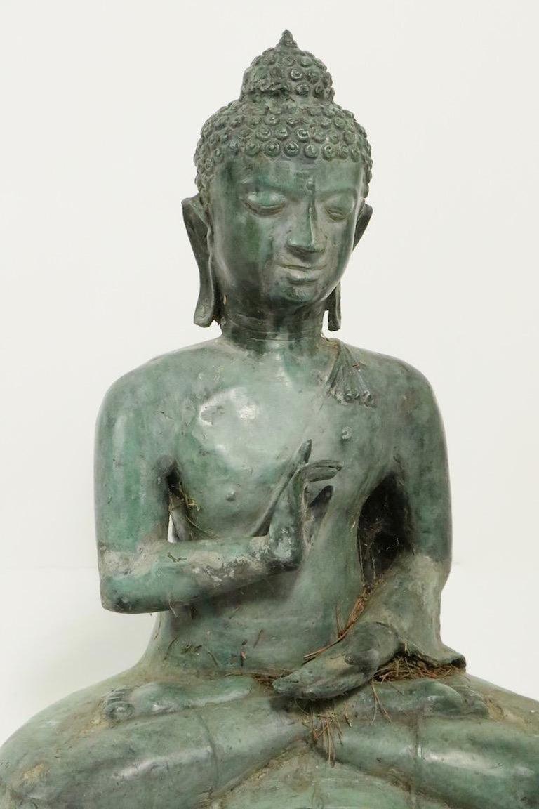 20th Century Seated Bronze Tibetan Buddha For Sale