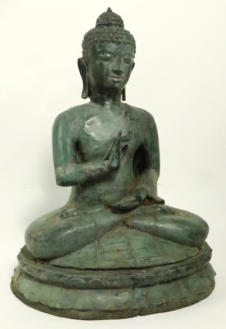 Seated Bronze Tibetan Buddha For Sale 1