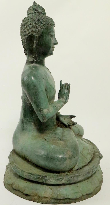 Seated Bronze Tibetan Buddha For Sale 2