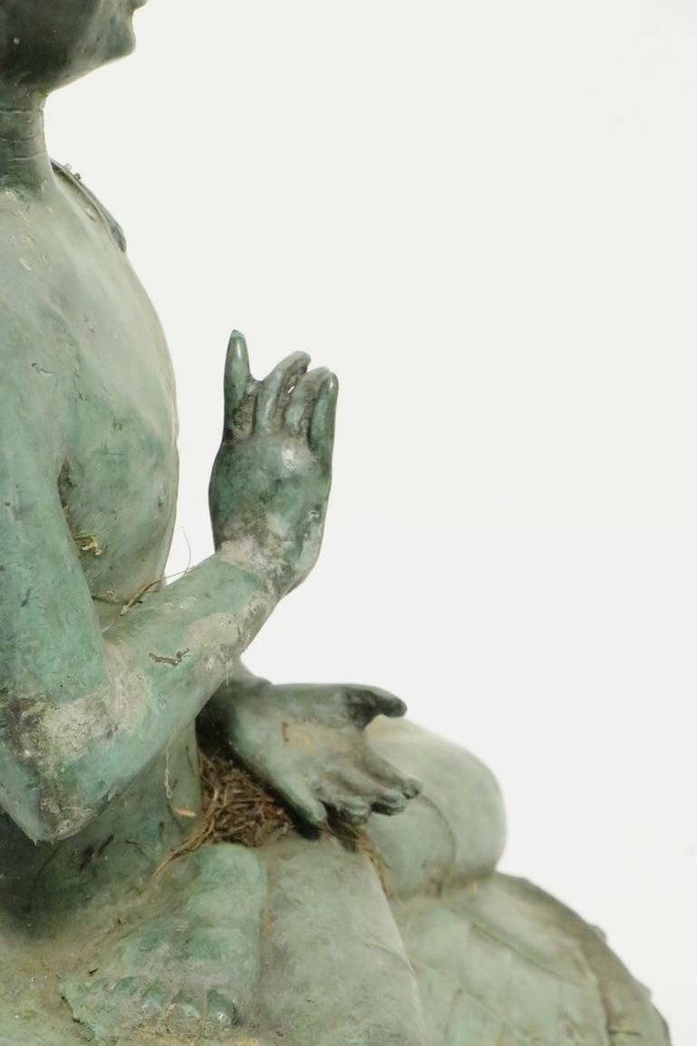 Seated Bronze Tibetan Buddha For Sale 3