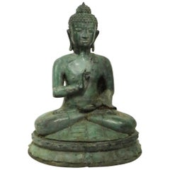 Seated Bronze Tibetan Buddha