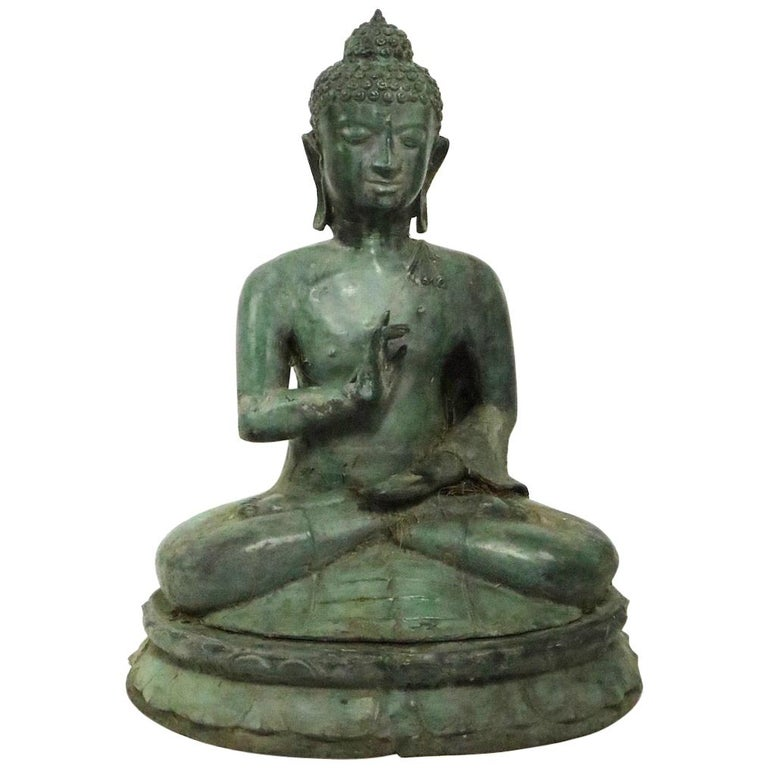 Seated Bronze Tibetan Buddha For Sale