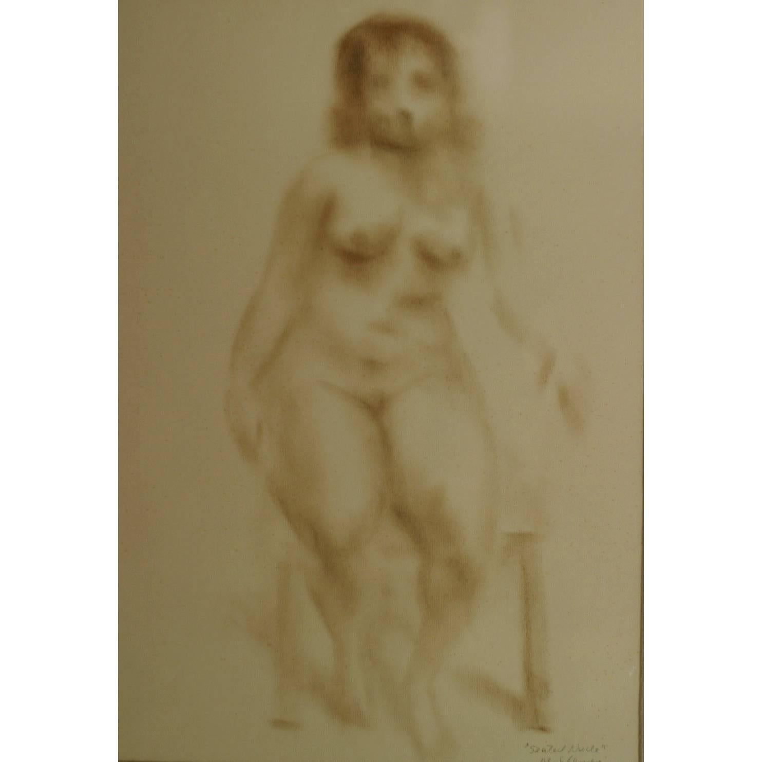 Seated Nude, Framed